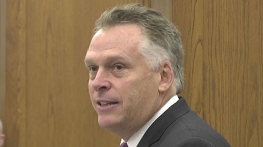 File Photo:  Governor Terry McAuliffe