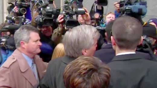 Former Governor Bob McDonnell entering the courthouse for sentencing