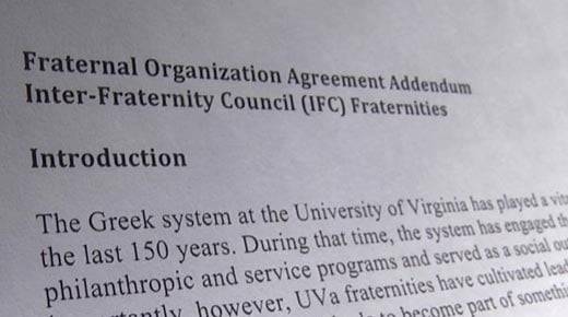 UVA Fraternity Operating Agreement 2015