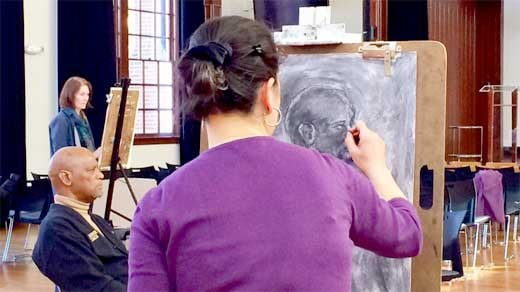 Artists fight racial profiling at Jefferson School African American Heritage Center drawathon