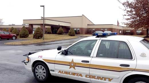 Augusta County Sheriff's Office car outside Shenandoah Nursing & Rehab in Fishersville.