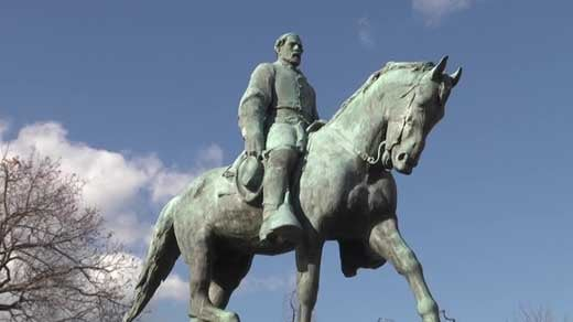 Statue of General Robert E. Lee in Charlottesville's Lee Park
