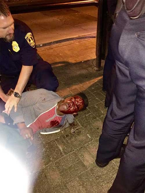 Photo of Johnson's arrest, provided by 'Concerned Black Students' group