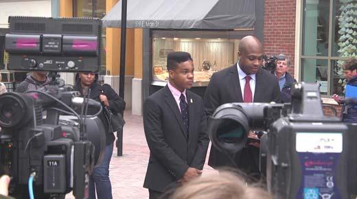 Martese Johnson and Attorney Daniel Watkins