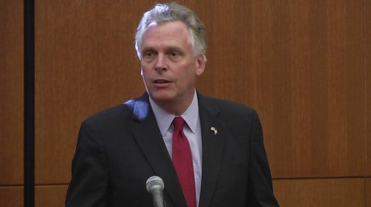 Governor Terry McAuliffe (FILE IMAGE)