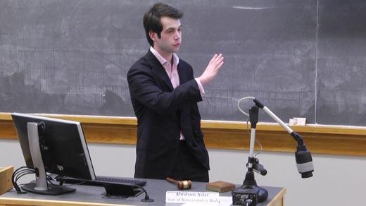 Abraham Axler, Chair of Representative Body, Student Council, University of Virginia