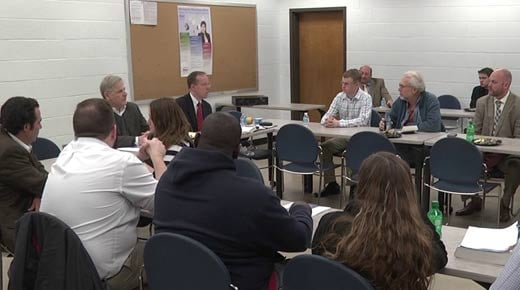 Del. Toscano and Del. Bell meet with PVCC student groups