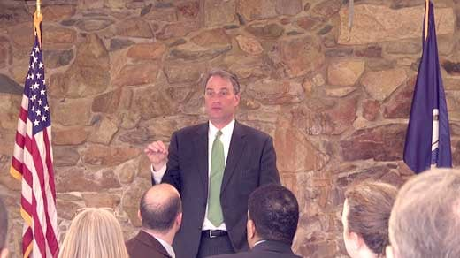 Congressman Robert Hurt speaking about proposed pipeline