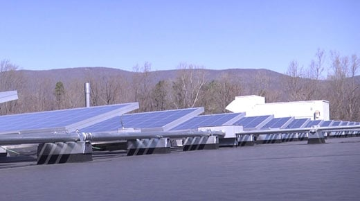 File Image: Solar panels on the roof of Henley Middle School