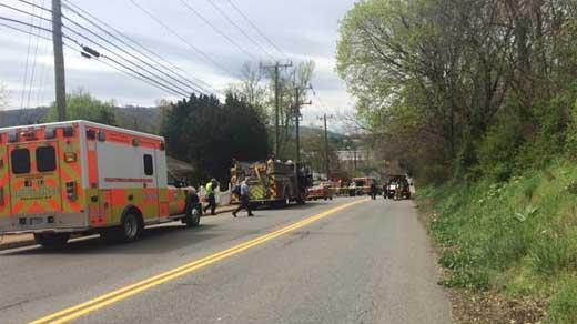 Fire crews responding to Rockland Avenue fire