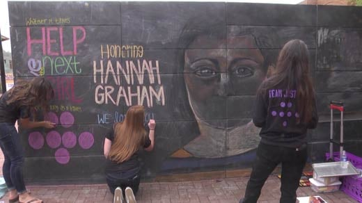 Help Save the Next Girl uses the Freedom Wall to commemorate Hannah Graham and to raise awareness about violent crime.