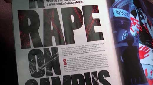 "File Image: Redacted Rolling Stone Magazine article, ""A Rape on Campus"""