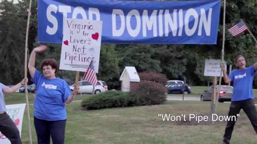 Screenshot from 'Won't Pipe Down' documentary