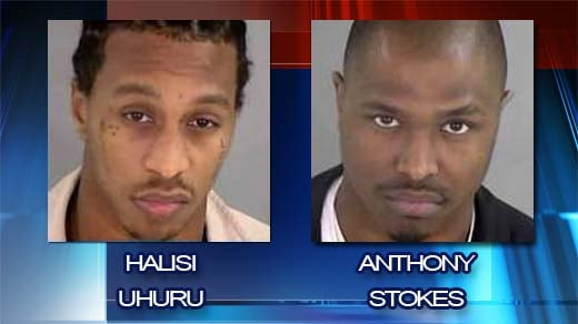 Two suspects charged with racketeering and obstruction of justice.