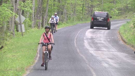 University of Virginia students cycle across the state to address their concerns about Dominion's proposed pipeline.