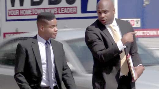 Martese Johnson and attorney Daniel Watkins