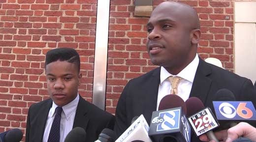 File Image: Martese Johnson and attorney Daniel Watkins