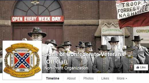 Image courtesy Sons of Confederate Veterans' Facebook page