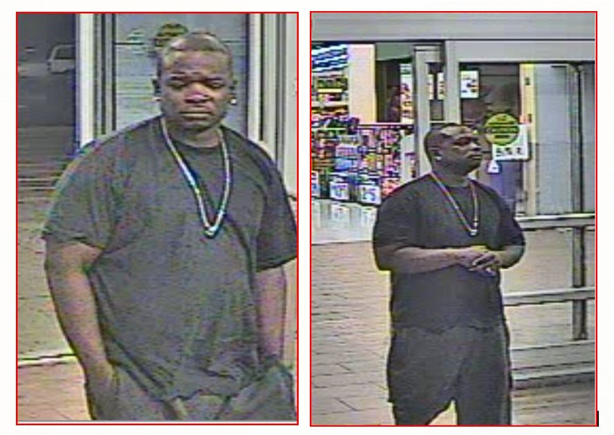 Surveillance photos of the suspect.  Click image to enlarge