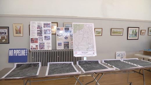 Maps and information set out during the Friends of Nelson meeting.