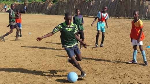 Soccer team in Haiti