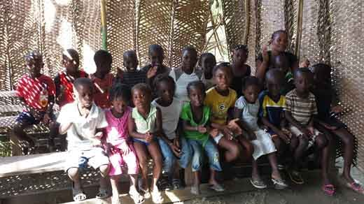 Literacy class in Haiti