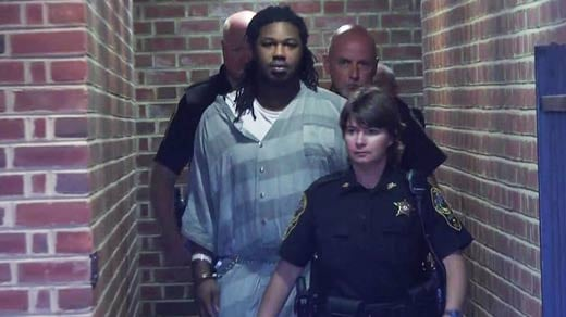 Jesse Matthew being escorted from Albemarle County Circuit Court