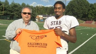 STAB Quarterback Jalen Harrison is the Falcon Club Player of the Week