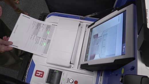 Digital scanner used to tally paper ballots
