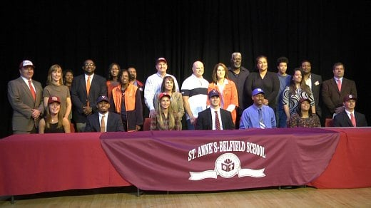 Seven STAB student athletes signed letters of intent