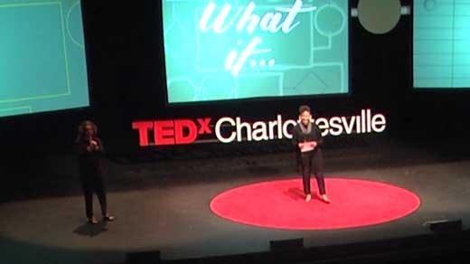 Martese Johnson speaking at TEDx Charlottesville