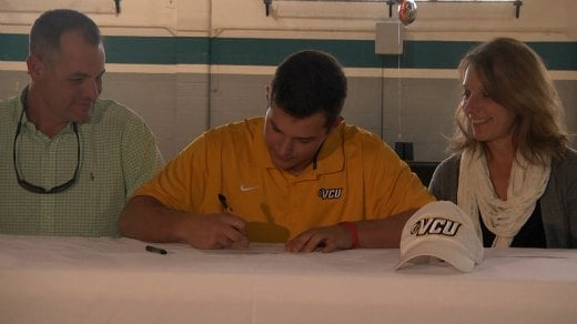 Connor Gillispie signed to play baseball at VCU
