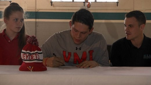 Tyler Creammer signed to play basketball at VMI
