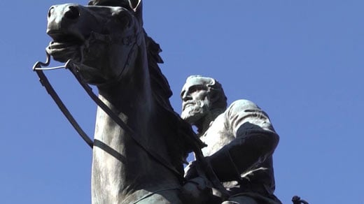 File Image: Statue of General Robert E. Lee in Charlottesville's Lee Park