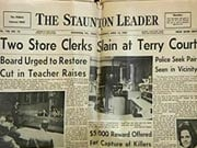 1967 Staunton Leader Headline
