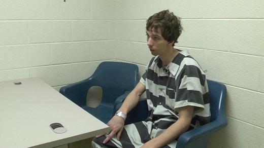 Bryan Silva being interviewed in jail.