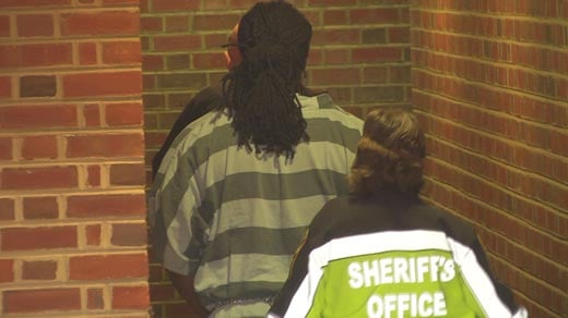 Jesse Matthew being escorted into Albemarle Circuit Court