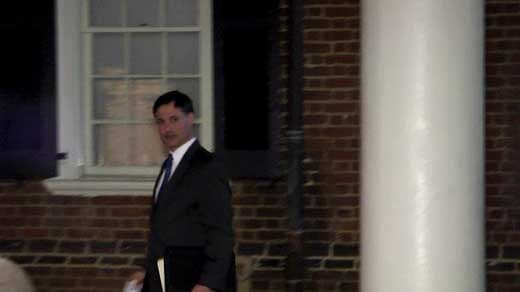 Albemarle County Commomwealth's Attorney Robert Tracci exiting court