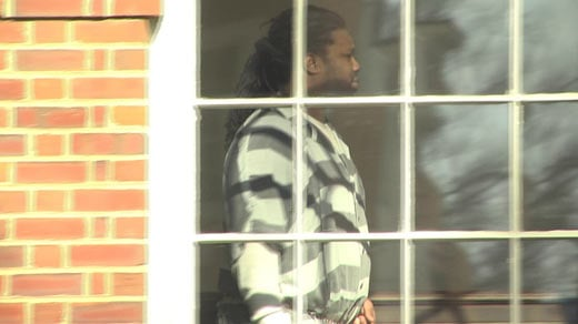Jesse Matthew being escorted through Albemarle Circuit Court