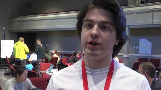 "Zach Minster, ""Hack-a-Thon"" coordinator"