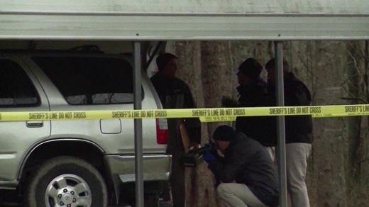 File Image: Authorities investigate the scene where Quick's SUV was discovered