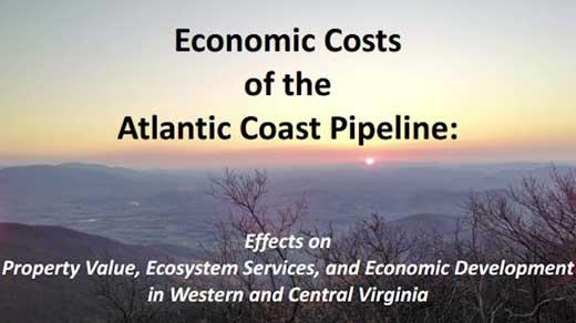 Economic Costs of the Atlantic Coast Pipeline report