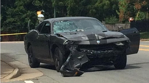 Car involved in the fatal Fourth St. incident following arrest on Monticello Ave (FILE IMAGE)