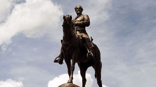 Statue of Confederate General Robert E. Lee on Monument Ave. in Richmond (Photo courtesy Bob Brown)