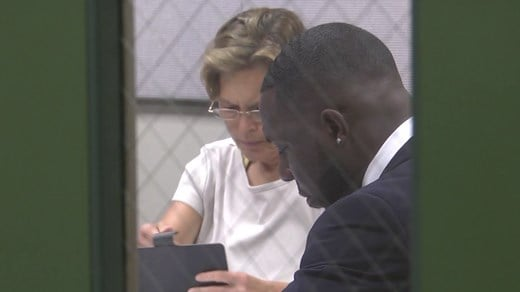 Councilor Kathy Glavin and Vice Mayor Wes Bellamy at a closed session meeting