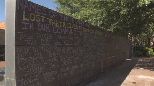 Free speech wall in Downtown Charlottesville