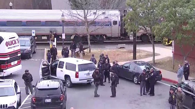 Heavy security at the Amtrak Station as train involved in deadly Crozet crash releases lawmakers