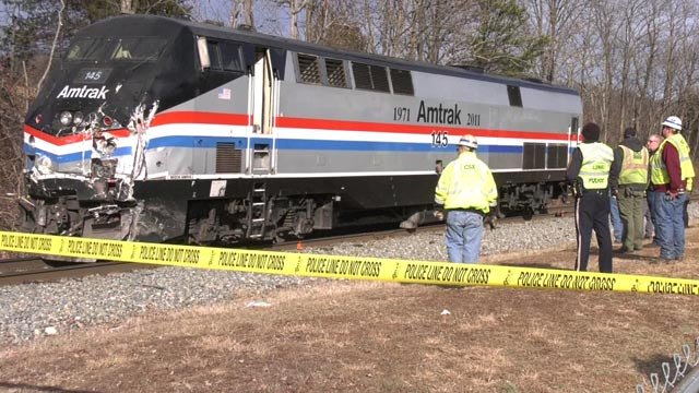 Amtrak train involved in a deadly crash in Crozet (FILE IMAGE)