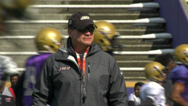 Mike Houston had a record of 37-6 in three seasons at JMU