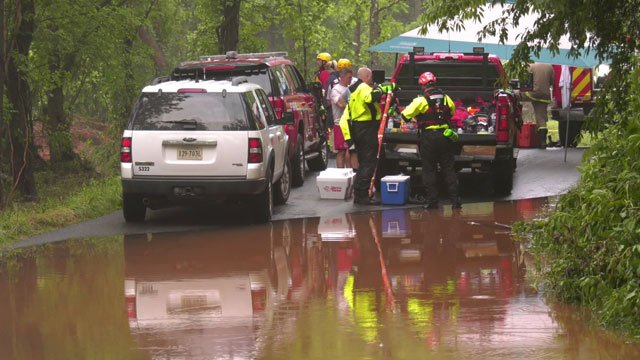 Crews searching for people in the area of Old Ballard Road in Albemarle County
